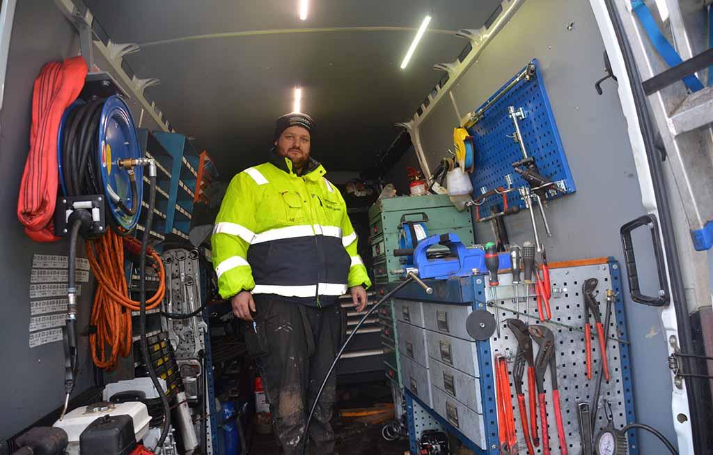 Mark skovgaard i varevognen