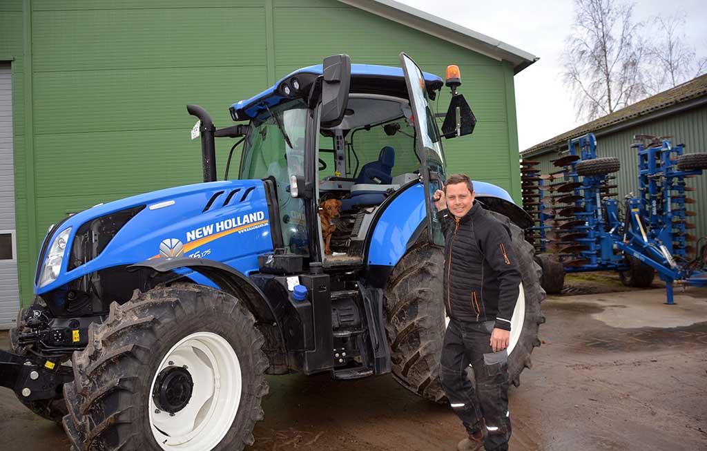 traktor på Kærsgaard